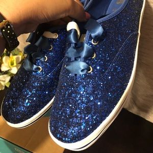 cf38f1617875 kate spade Shoes - Bright Blue Glitter Keds